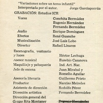 "Program for the production, ""La ratonera"""