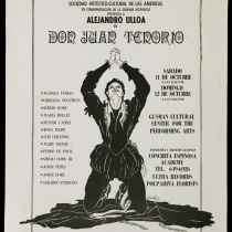 "Poster for the production, ""Don Juan Tenorio"""