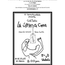 "Flyer for the café-teatro, ""La última cena"""