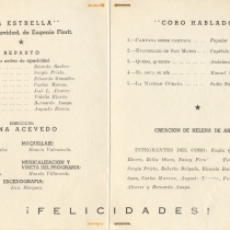 "Program for the production, ""La estrella"""