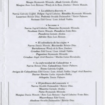 "Program for the production ""Decamerón"""