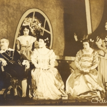 "Scene from the production, ""La dama boba"""