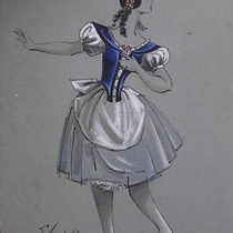 "Costume design for the ballet, ""Giselle"""
