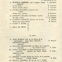 "program for the production, ""Rita Montaner in memoriam"""