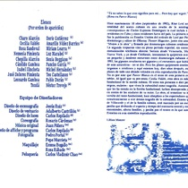 Program for the theatrical production, Parece blanca