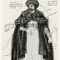 "Costume design for Francesco for the production, ""Francesco: The Lifes and Times of the Cencis"""