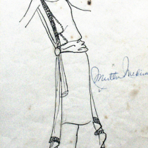 Costume design for Andrea in the theatrical production, Las vacas gordas