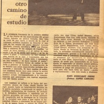 "Review of the production ""Los caminos"""