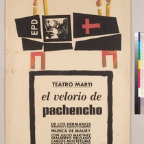 "Poster for the production, ""El velorio de Pachencho"""
