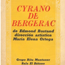 "program for the production, ""Cyrano de Bergerac"""