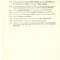 Program for the theatrical production, Aire frío