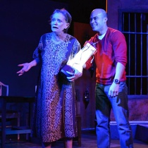 "Photographs of the theatrical production, ""Huevos"""