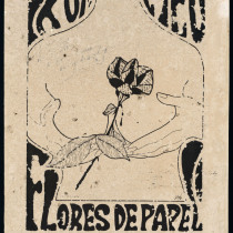 "Poster for the production, ""Flores de papel"""