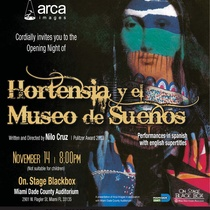 Invitation for the production, Hortensia y el Museo de Sueños