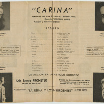 "Program for the production, ""Carina"""
