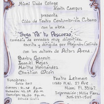 "Flyer for the production, ""Soga pa' tu pescuezo"""