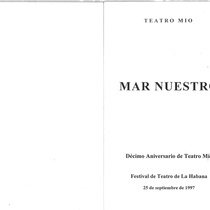 "Program for the production, ""Mar nuestro"""