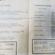 "Program for the production ""La víctima"""