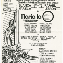"Poster for the production, ""María la O"""