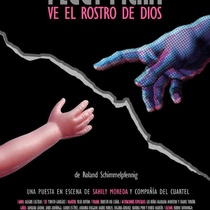 "Poster for the production, ""Peggy Pickit ve el rostro de dios"""