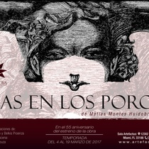"Postcard for the production, ""Gas en los poros"""