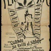 "Poster for the production, ""Cuando se exilió el sabor"""