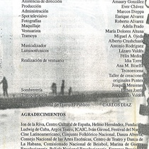 "Program for the production ""María Antonieta o la maldita circunstancia del agua por todas partes"""