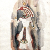 Costume design drawings for the production, Cleopatra y los otros