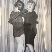 Photograph of Norma Zúñiga and Néstor Cabell in blackface