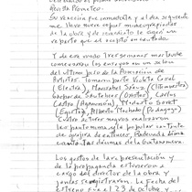 Letter from Francisco Morín to Carlos Espinosa, 1998