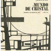 "Program for the production, ""Mundo de cristal"" (The glass menagerie)"
