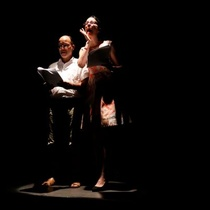 "Photographs of the staged reading ""Sonia se fue"""
