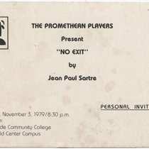 "Invitation for the production, ""No exit"""