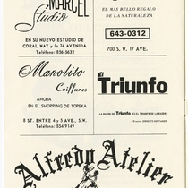 "Program for the production, ""La viuda alegre"" (The merry widow)"