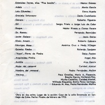 "Program for the production, ""La querida de Enramada"""