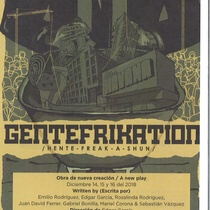 Program for the theatrical production, Gentefrikation