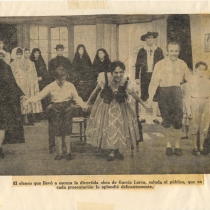 "Cast from the production, ""La zapatera prodigiosa"""