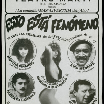 "Poster for the production, ""Esto está fenómeno"""