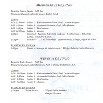 "Program for the ""Festival Elsinor 2011"""