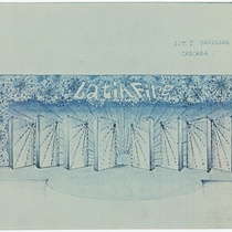 "Set design for the production, ""Latin Fire"""