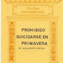 "Cover from the program for the production, ""Prohibido suicidarse en primavera"""