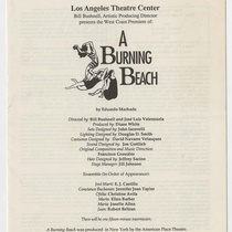 Program for the production, A Burning Beach