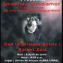 "Poster for the production, ""Emelina Cundiamor"""