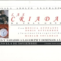 "Poster of the production, ""Las criadas"""