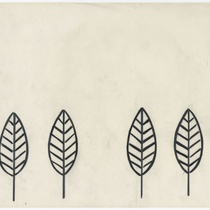 Drawing of four leaves