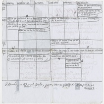 "Program for the production ""Tacón Tacón"", its back is handwritten by Roberto Gacio"