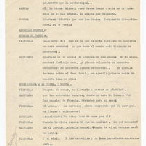 Typescript for the theatrical production, Volver al pasado