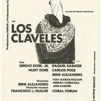 "Playbill for the production, ""Los claveles"" (The carnations)"