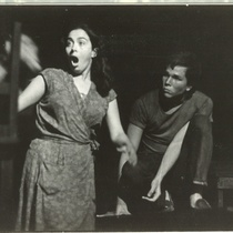 "Photograph of Flora Lauten and Adolfo Llauradó in the production ""La noche de los asesinos"" 1966"