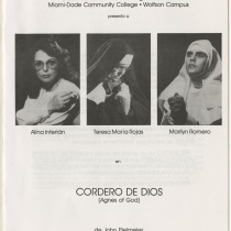 "Program for the production, ""Cordero de Dios"""